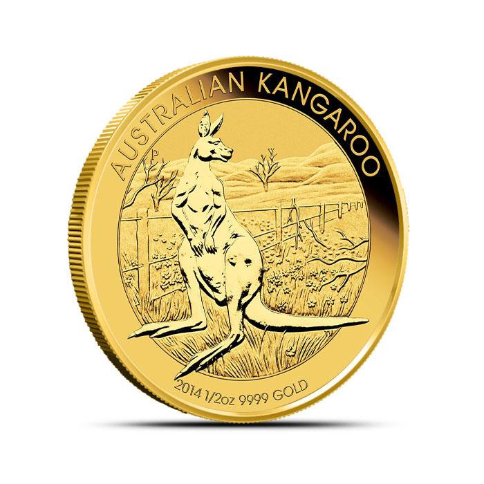 2014 1/2 oz Australian Gold Kangaroo Coin Obverse