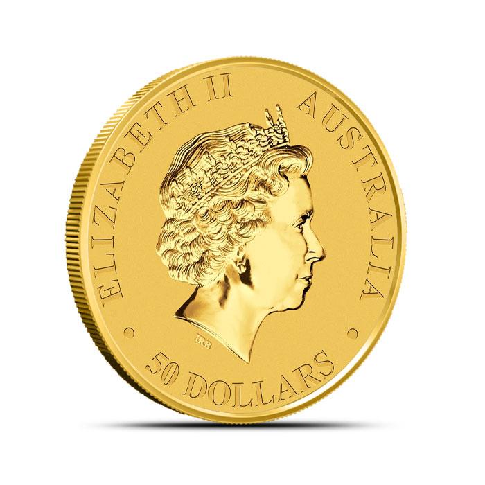 2014 1/2 oz Australian Gold Kangaroo Coin Reverse