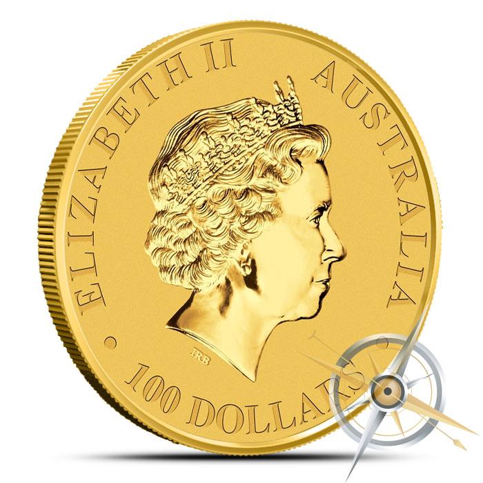 2015 1 oz Australian Gold Kangaroo Reverse