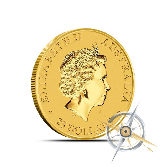 2015 1/4 oz Australian Gold Kangaroo Reverse