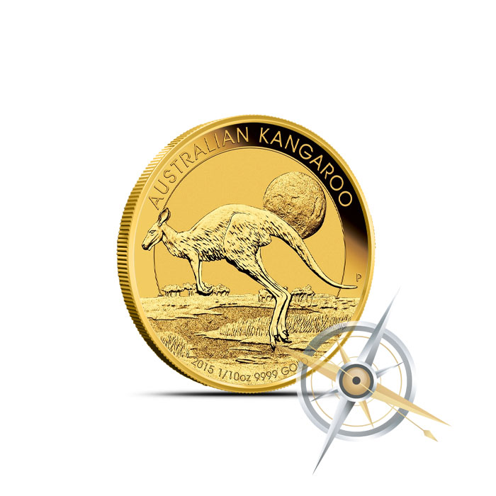 2015 1/10 oz Australian Gold Kangaroo Reverse