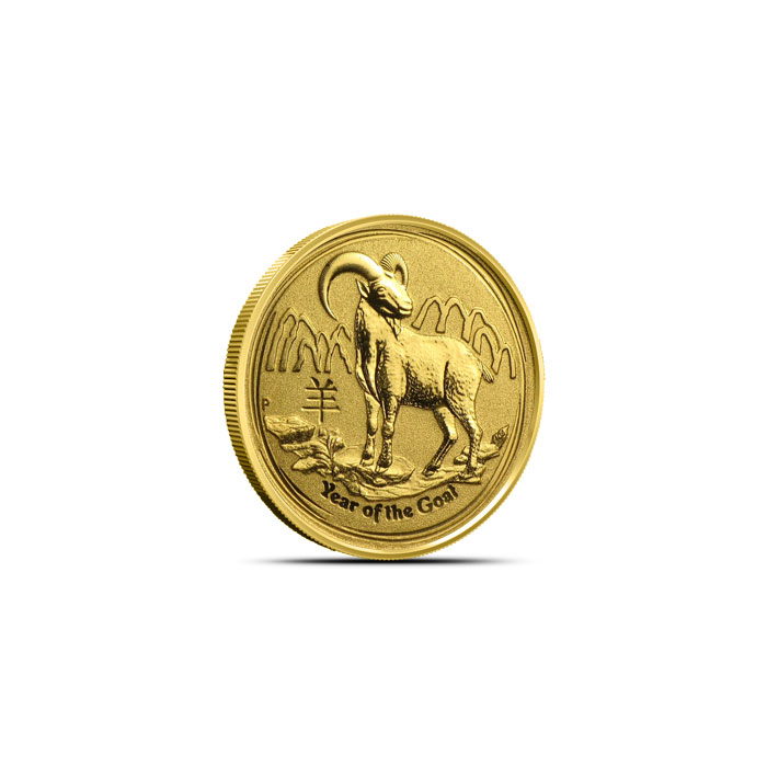 2015 1/20 oz Gold Year of the Goat | Perth Mint Lunar Series II
