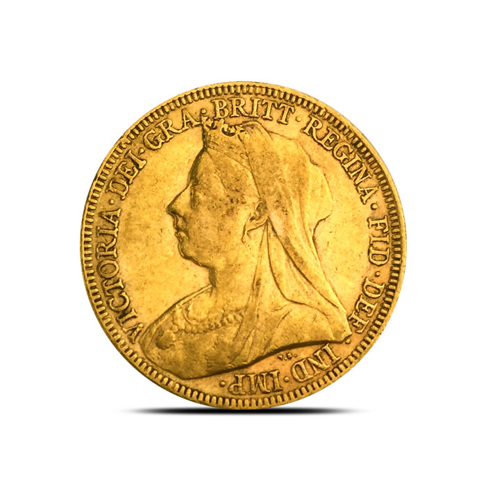 Great Britain Gold Sovereign Queen Victoria VF+ 1893-1901