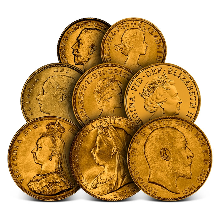 British Gold Sovereign Coins | 8 piece Collectors Set-0