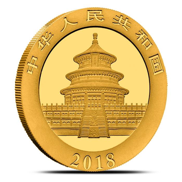 2018 30 gram Chinese Gold Panda Reverse