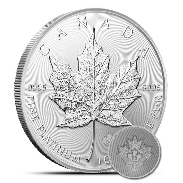 2015 1 oz Canadian Platinum Maple Leaf