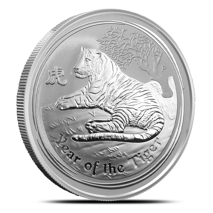 2010 Year of the Tiger 2 oz Silver Coin | Australian Perth Mint