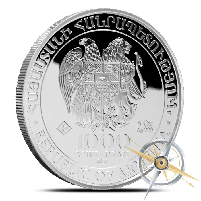 2015 5 ounce Silver Noahs Arc