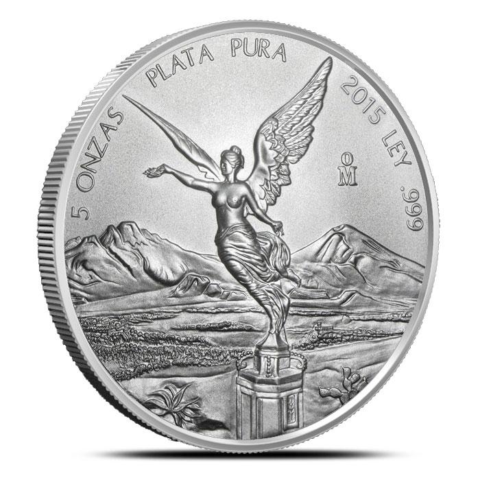 2015 5 oz Mexican Silver Libertad