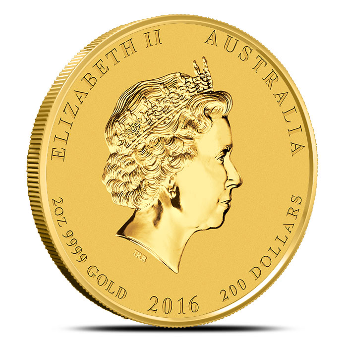 2016 Perth Mint Year of the Monkey 2 oz Gold Coin