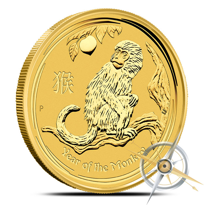 2016 1 oz Gold Year of the Monkey Coin | Perth Mint