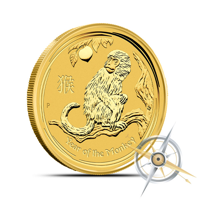 2016 1/2 oz Gold Year of the Monkey Coin | Perth Mint