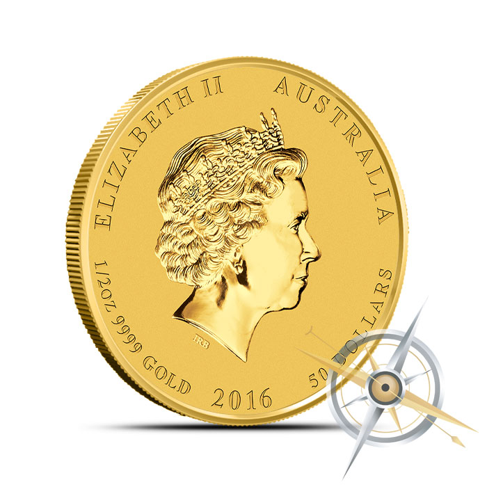 2016 Perth Mint Year of the Monkey 1/2 oz Gold Coin