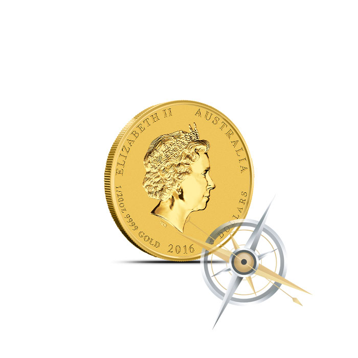 2016 Perth Mint Year of the Monkey 1/20 oz Gold Coin