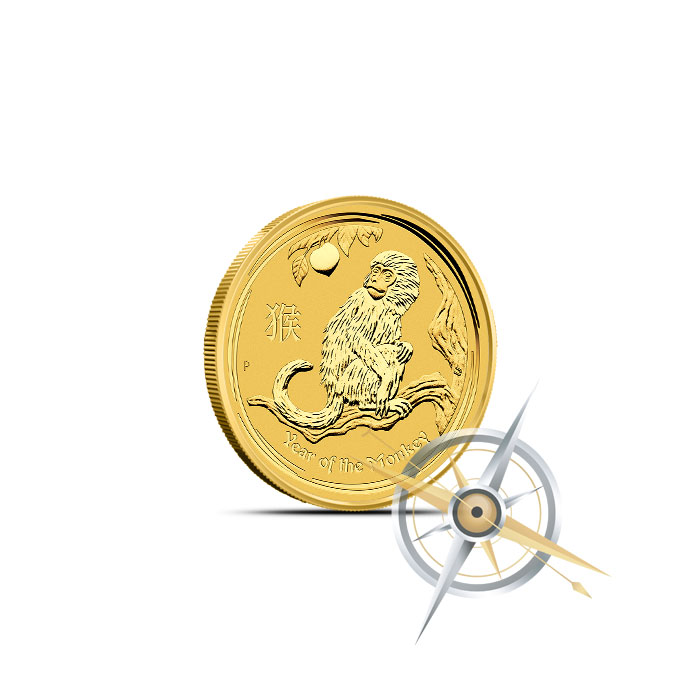 2016 1/20 oz Gold Year of the Monkey Coin | Perth Mint