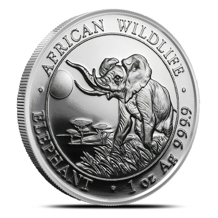 2016 1 oz Somalian Elephant Silver Coin