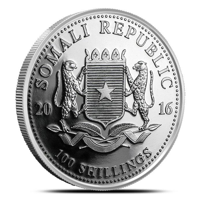 2016 one ounce Somalian Elephant Silver Coin