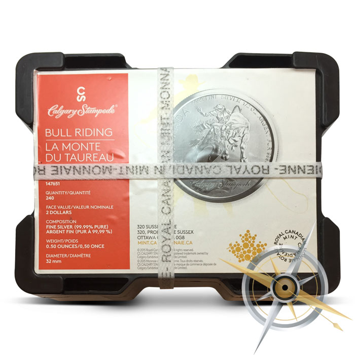 2015 Canadian 1/2 oz Silver Calgary Stampede Coin | Monster Box