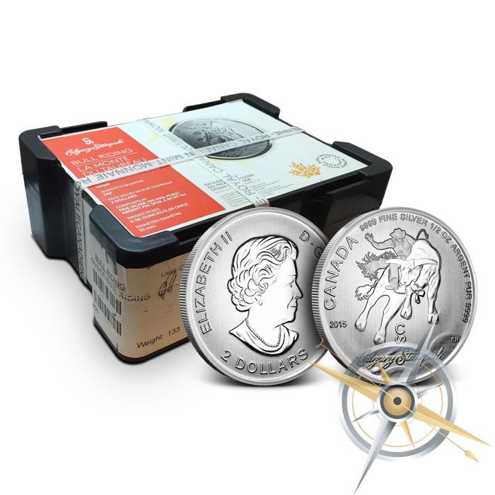 2015 1/2 oz Silver Calgary Stampede Coin