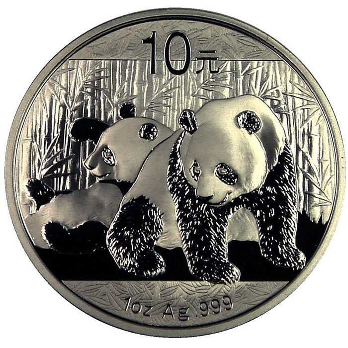 2010 China Silver Panda 1 oz Coin Obverse