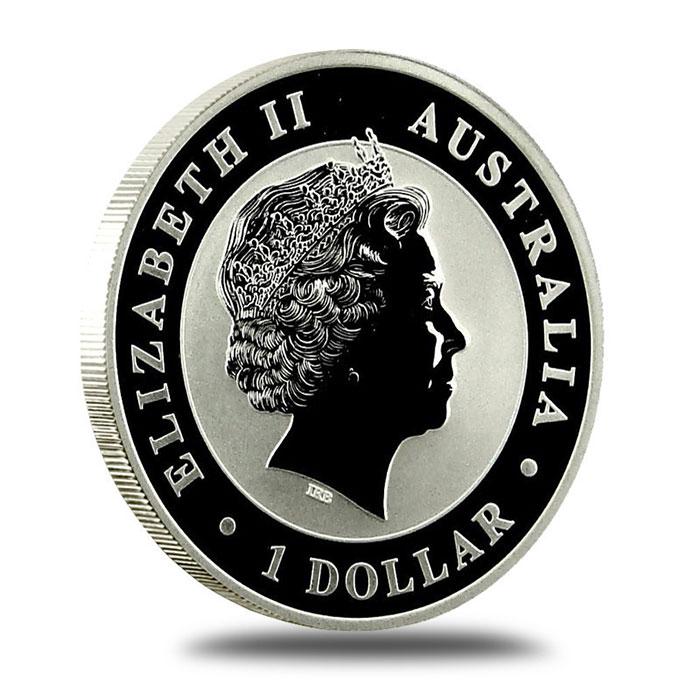 1 oz 2010 Australian Kookaburra .999 Fine Silver Coin Reverse