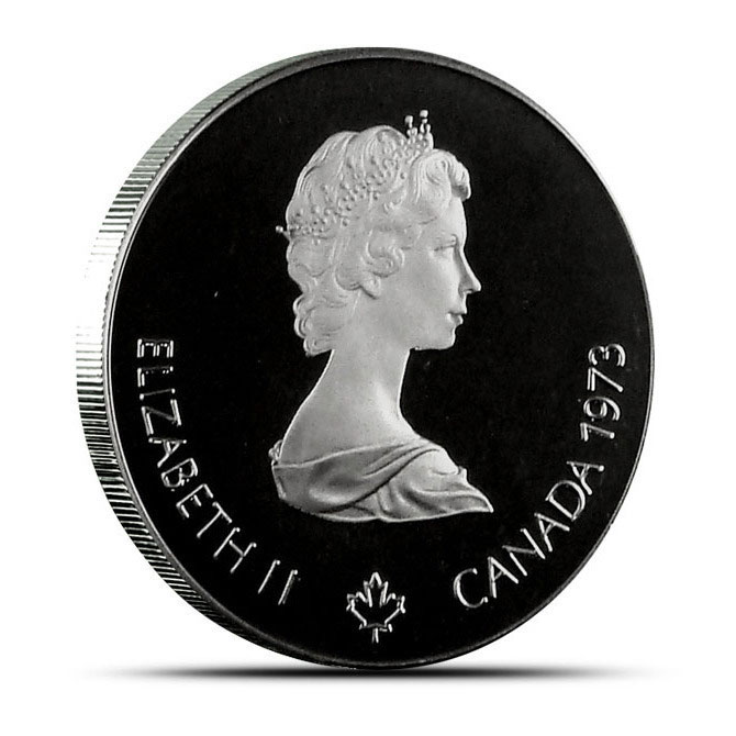 BU / Proof Canada $5.00 Silver Olympic Coin Obverse