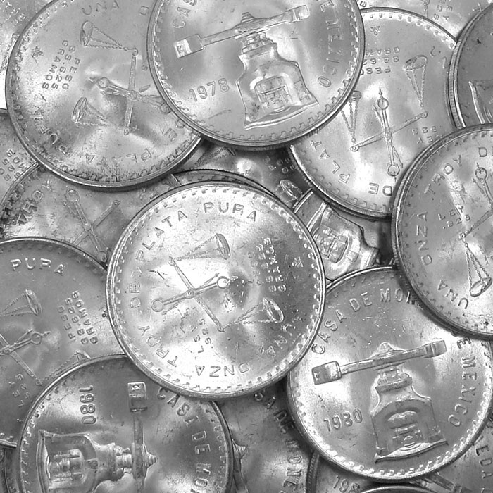 Uncirculated 1 oz Mexican Silver Onza