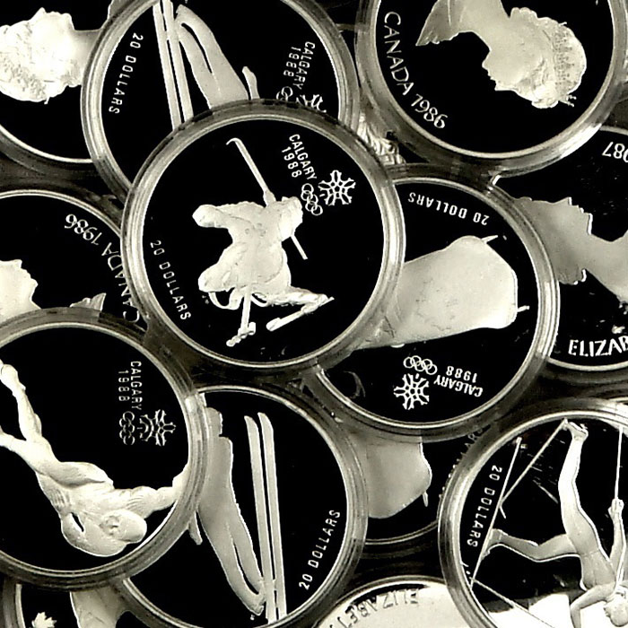 Canada $20 Olympic 1 oz. Silver Proof Coins