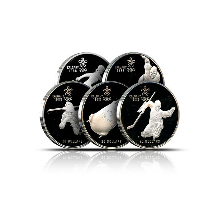 Canadian $20 Olympic 1 oz. Silver Proof Coins