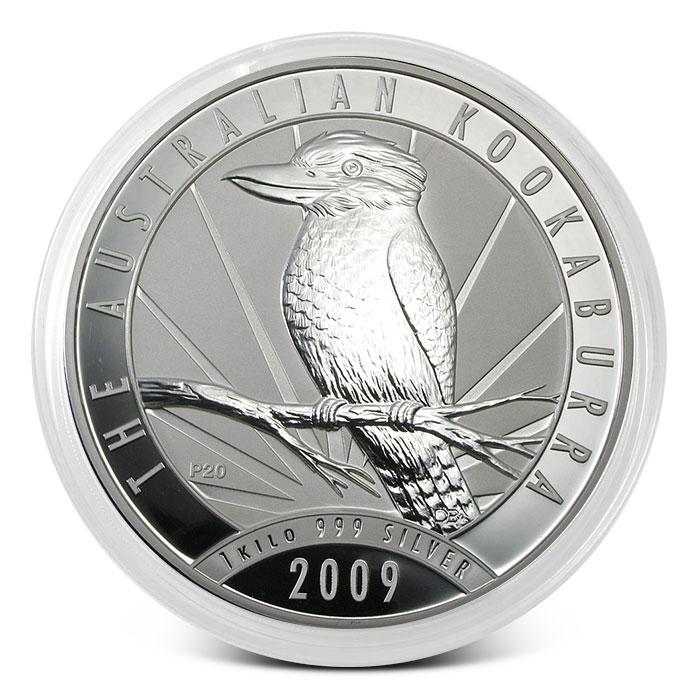 2009 Australia Kilo Silver Kookaburra Coin