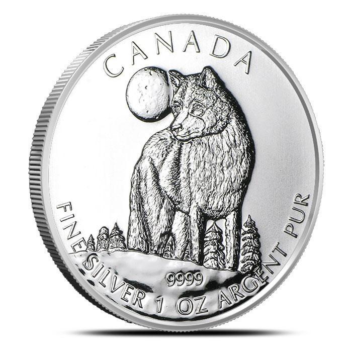 2011 Canadian 1 oz Silver Wolf | Wildlife Series