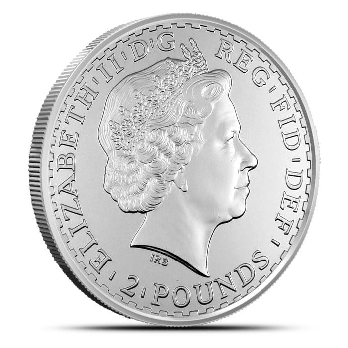 2010 1 oz Silver Britannia Reverse