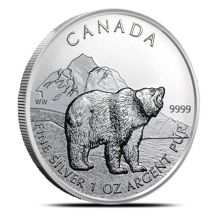 2011 Canadian 1 oz Silver Grizzly | Wildlife Series