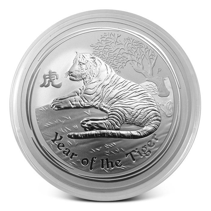 2010 Australian 10 oz Silver Year of the Tiger Coin