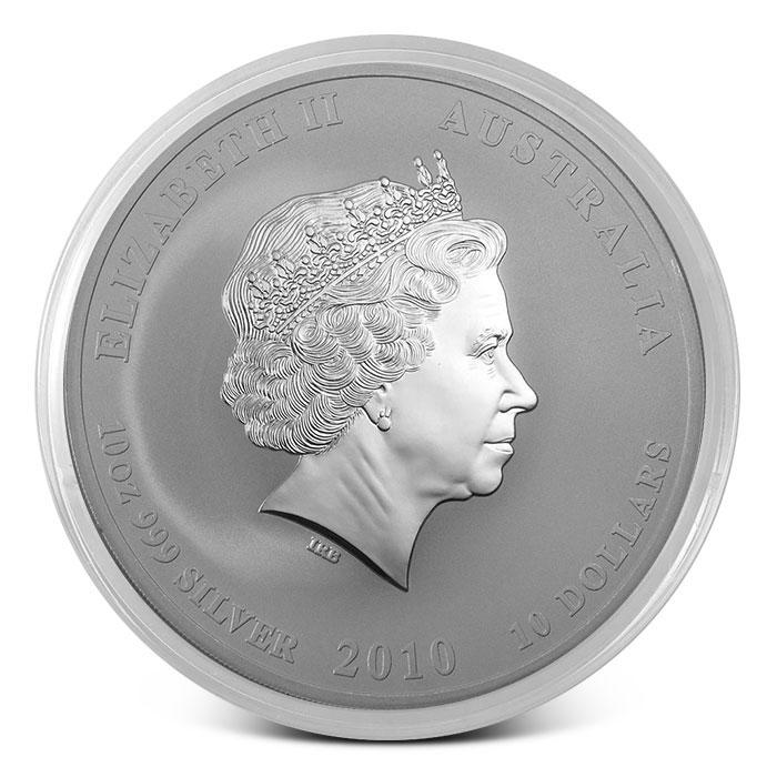 2010 Perth Mint 10 oz Silver Lunar Series 2
