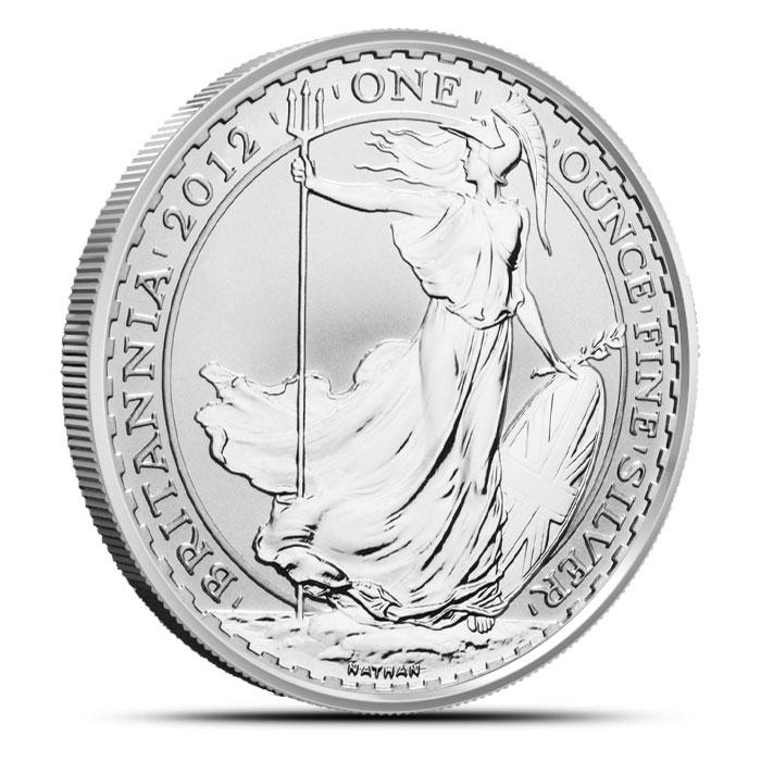 2012 1 oz Silver Britannia
