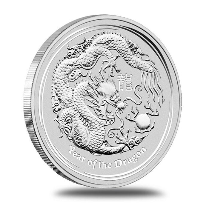 2012 Perth Mint Lunar Series 2 10 oz Silver Australian Year of the Dragon Bullion Coin