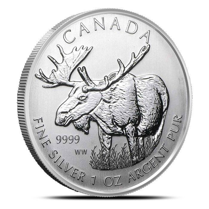 2012 Canadian 1 oz Silver Moose | Wildlife Series