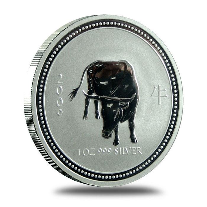Perth Mint Lunar Series 1 2009 1 oz Silver Year of the Ox Bullion Coin