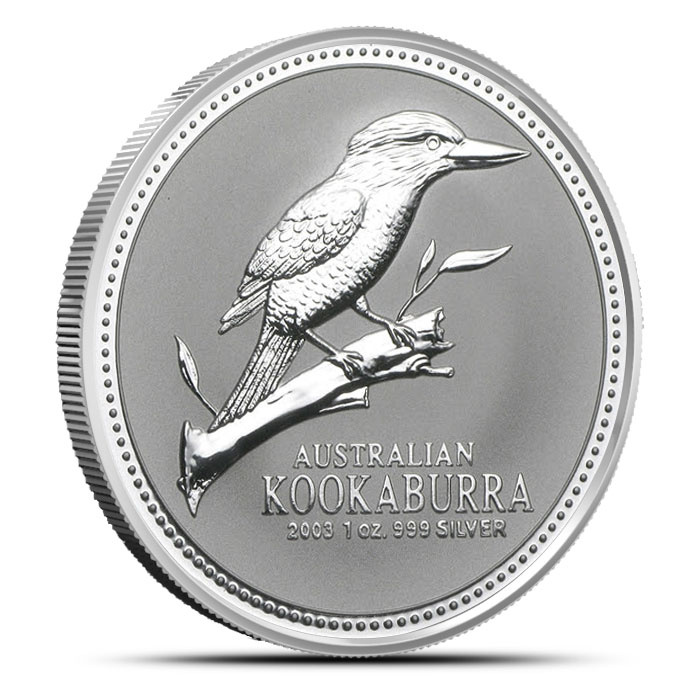 2003 Australian Kookaburra | 1 oz .999 Fine Silver Coin