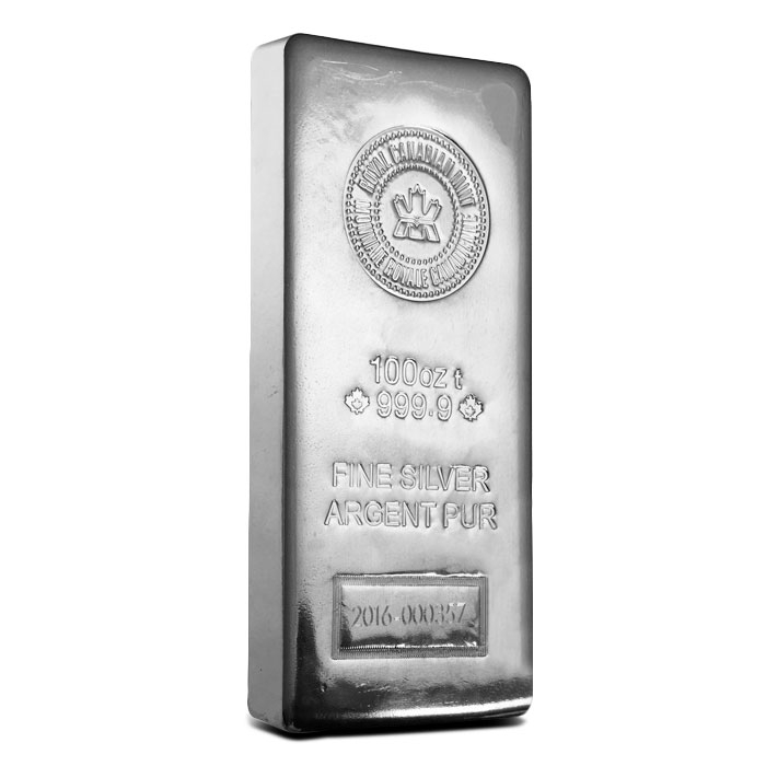 RCM 100 oz Silver Bar