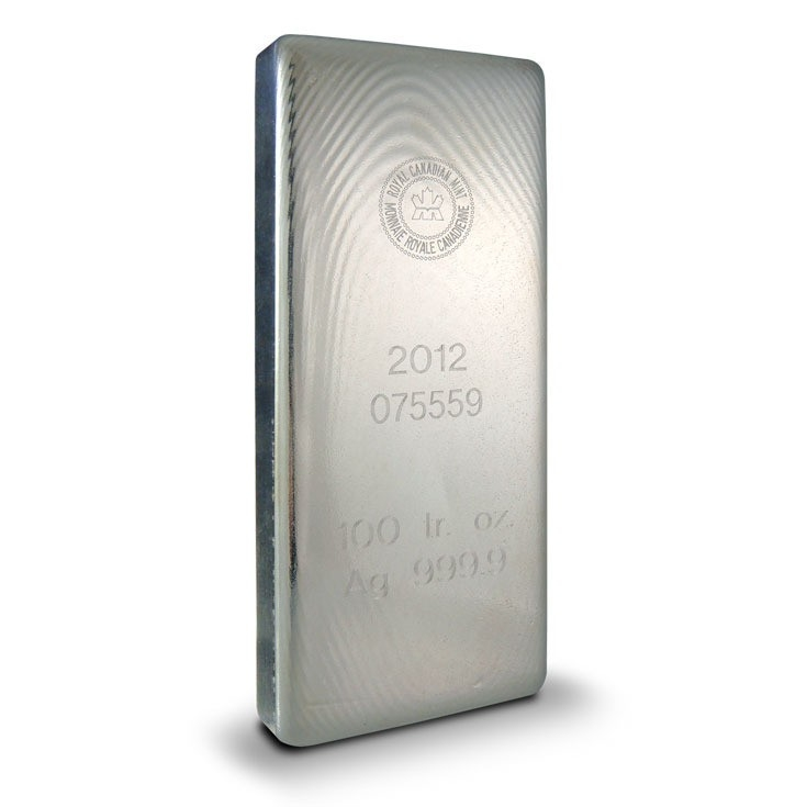 100 oz Silver Bar | Royal Canadian Mint