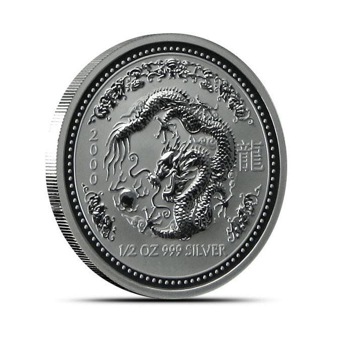 2000 1/2 oz Silver Year of the Dragon | Lunar Series 1