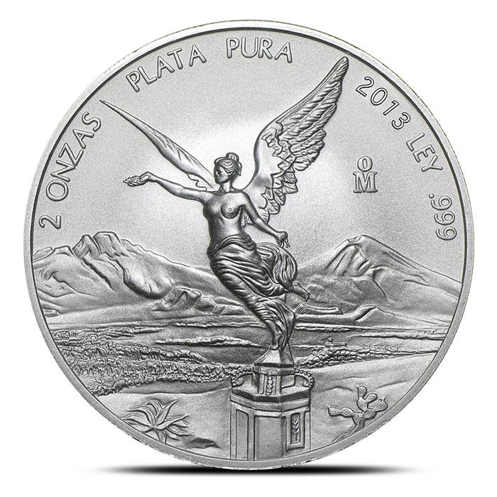 2013 2 oz Mexican Silver Libertad Obverse