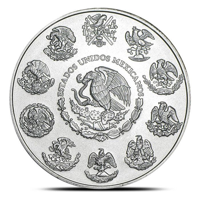 2013 2 ounce Silver Mexican Libertad Reverse