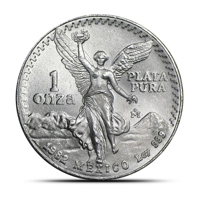 1982 1 oz Mexican Silver Libertad Obverse