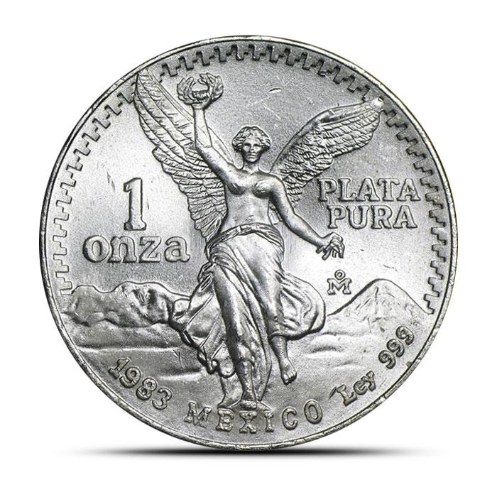 1983 1 oz Mexican Silver Libertad Obverse