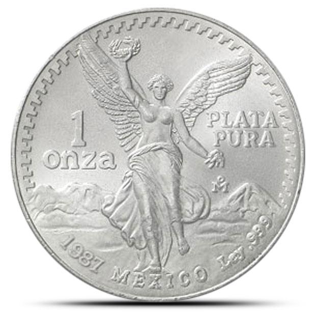 1987 Mexican Silver Libertad 1 oz Coin