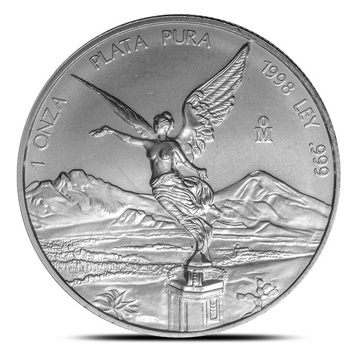 1998 Mexican Silver Libertad 1 oz Coin