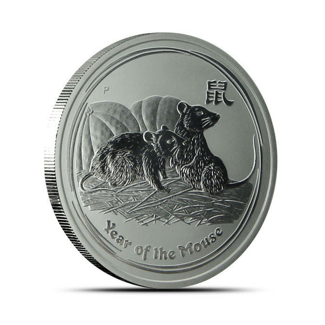 2008 1/2 oz Silver Year of the Mouse Australian Perth Mint Coin